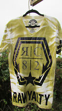 NEW M RAWYALTY t-shirt green white black tie dyed couture bling $149 v-neck RC82