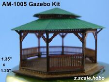 Animek Z Scale Gazebo Bench Trash Can ADVANCED KIT *NEW $0 Shipping