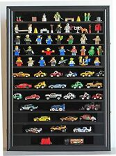 Hot Wheels Matchbox 1/64 scale Diecast Display Case Cabinet Wall Rack w/UV