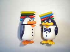 KINDER SURPRISE SET - PENGUINS WITH WAX CRAYONS - TOYS FIGURES COLLECTIBLES