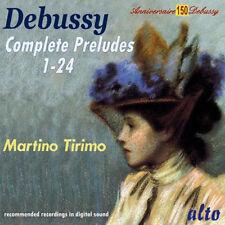 CD DEBUSSY COMPLETE PIANO PRELUDES 1 - 24 MARTINO TIRIMO