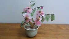 Glass Cherry Blossom Branch in Ceramic Pot