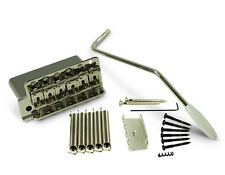 KLUSON VINTAGE STYLE LEFTY TREMOLO MODEL KVTSN-LH WITH STEEL BLOCK IN NICKEL