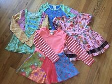 New Matilda Jane Girls Size 2 Lot of 3 Long Sleeve And 1 Short Sleeve Shirts