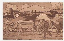 Pays Basque Sur La Route Jacques Le Tanneur Vintage Postcard 261a