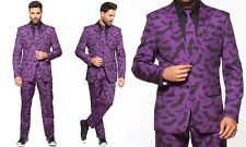 Braveman: Bat Suit with Matching Tie (New w/ Tags) Purple and Black