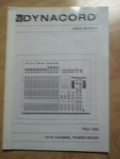 Owner/ User Manual for the EV Dynacord PSX-1250 Power Mixer ~ Electro-Voice