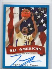 (T362) 12-13 Terrence Ross Leaf Signature BLUE All American AUTO RC #D 2/10