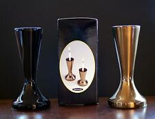 Vintage New Mid Century Modern CandleSafe Black Candle Holder / Vase Japan