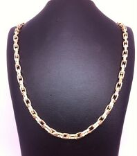 Beautiful Open Diamond Cut 9ct Yellow Gold Belcher Chain:6.7gms;24inch;RRP £300
