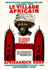 Art Ad Le Village Africain   Travel  Poster Print