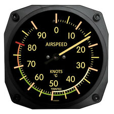 """Trintec 6"""" Vintage Aircraft Airspeed Thermometer - Celcius (C) - 9061VC"""