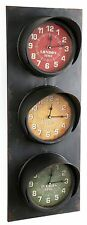 Large Metal Wall Mounted Traffic Light Clock ~ London, Paris and New York Clock