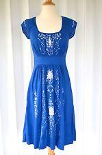 Anthropologie Lil Blue Harissa Dress Size 0