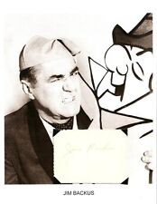 Jim Backus Autograph Mr Magoo Gilligans Island Thurston Howell Alan Young Show