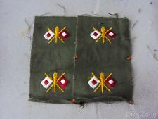 2 x Pairs of US Army Signal Corps OD Olive Cloth Patches / Badges