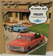 PICKUP CHASSIS CAB STAKE C 10 20 30 TOW CST DEALERSHIP 1968 TRUCK CHEVY BROCHURE
