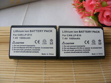 2x BATTERY FOR Canon EOS 1100 D / 1300D / LP-E10 LP-E 10 LPE10