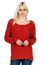 2015 NWT WOMENS VOLCOM FOR LOVE SWEATER $60 S blood red relaxed fit crew neck