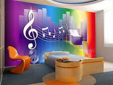 Rainbow Music Box Wall Mural Photo Wallpaper GIANT DECOR Paper Poster Free Paste