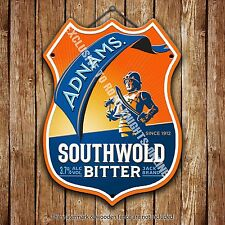 Adnams Southwold Bitter Beer Advertising Pub Metal Pump Badge Shield Steel Sign