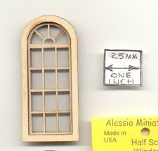 Half Scale - Palladian Window 2169HS wood dollhouse miniature 1/24 scale USA
