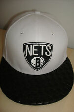 NEW ERA 59 FIFTY RETRO BROOKLYN NETS BASKETBALL CAP HAT WHITE SIZE 7 MEDIUM