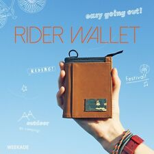 KOREA MADE Cotton Fabric Rider Hip Wallet With ZIP for Travel Camping Hiking