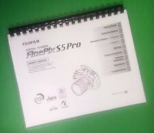 COLOR PRINTED Fujifilm FinePix S5 Pro Instruction Manual Guide 244 Pages