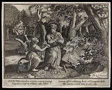 santino incisione 1600* S.ZENONE ANAC. DELL'ANTIOCHENA   le clerc