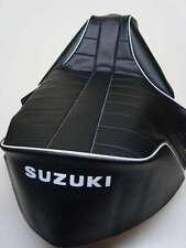 Motorcycle seat cover - Suzuki RV90 & RV125 Sandbike (white piping)