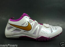 Women's Nike 'ZOOM CELAR 4' Sprint Track Shoes 11(WIDE) WHITE LILY running 100m