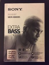 *NEW* Sony MDR-XB80BS EXTRA BASS Sports In-Ear Bluetooth Headphones - Black #84