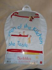 "ADULT & CHILD COOKING / BAKING APRON SET ""QUEEN OF THE KITCHEN"" & TASTE TESTER"""