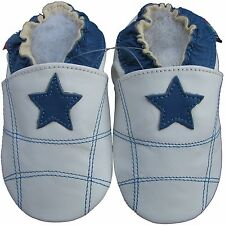 shoeszoo blue star white 18-24m S soft sole leather baby shoes