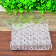30Pcs Nail Art Empty Glitter Display Box Container Case Manicure Holder