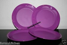 """Tupperware 1 Set (4) Open House Dinner Plates Purlicious 11"""" New"""