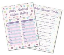 Baby Shower Party Games - 2 Giochi-Baby Animale/Baby Shower QUIZ -20 giocatori