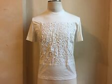 RARE QASIMI HOMME RARE BAROQUE DETAILED DESIGN EMBELLISHED JAX WHITE T SHIRT S S