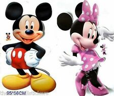 2 X Disney Mickey Minnie Mouse Clubhouse Wall Sticker Home Decor Art GIANT 33""