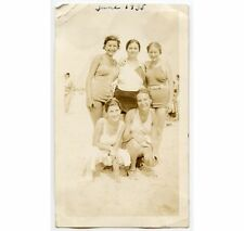 5 YOUNG LADIES IN EARLY BATHING SUITS 1935 PHOTO