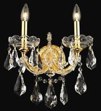 New Crystal Wall Sconce Maria Theresa Gold 2 12X16X8.5