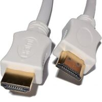 2m HDMI Cable High Speed With Ethernet v1.4 FULL HD 4K 3D ARC GOLD WHITE