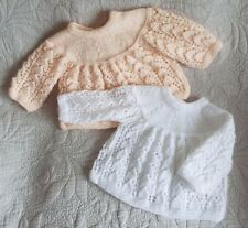 2 PRETTY HAND KNITTED BABY JACKETS