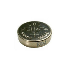 #386 (SR43W) Renata Mercury Free Watch Batteries - Strip of 10