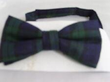 "TOP Watch (A) TARTAN-Green/Blue/Black TEENS SIZE   12' - 15""   Polyester Bow Tie"