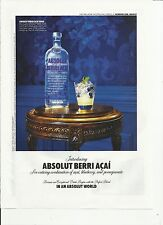 ABSOLUT BERRI ACAI - 2010 Absolut Vodka print ad
