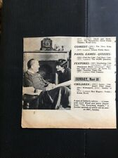 L1-7 Ephemera 1956 Picture Cyril Wood Jenny Davies The Recording Angells