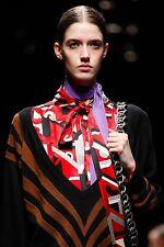 PRADA FALL 2014 RUNWAY Lavender Silk Skinny SCARF ~NWT~