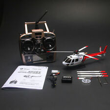 WLtoys V931 6CH Flybarless 3 Blade AS350 Scale RC Helicopter RTF 3D 6G Gyro Red